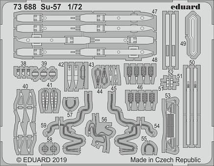 Су-57 набор фототравления для модели ZVEZDA. 1/72 EDUARD 73688, фото 2