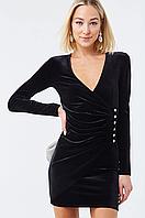 Бархатное мини-платье с длинным рукавом Forever21
