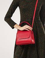 Жіноча шкіряна сумка червона VERONA, фото 1