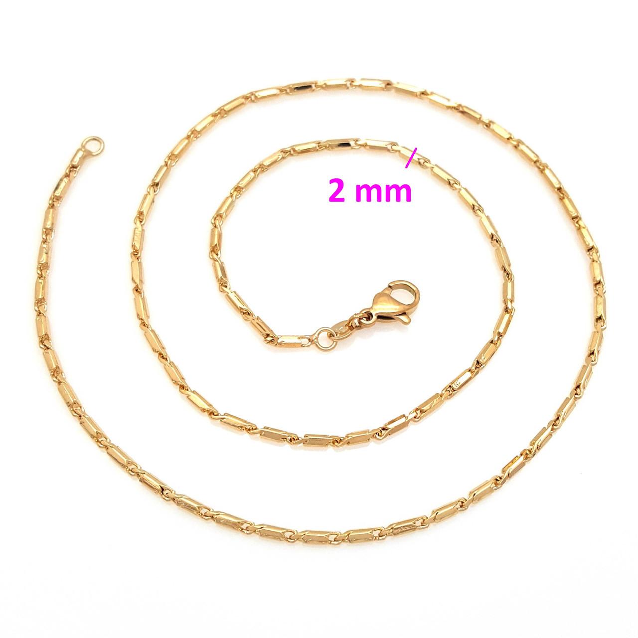 Цепочка золотая, Сколоченная в круг, р. 45, Xuping, 18К