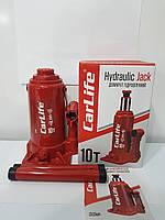 Домкрат гідравлічний CarLife BJ410 10т 200/385мм