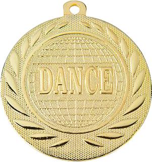 """Медаль наградная танцевальная """"DANCE"""" 50 мм. DI5000R"""