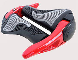 """Ергономічні велосипедні гріпси з алюмінієвими ріжками """"45"""" (4 кольори) ЧЕРВОНИЙ"""