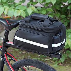 """Велосипедная раскладная сумка-штаны """"трансформер"""" на багажник / велобаул 25-35 л"""