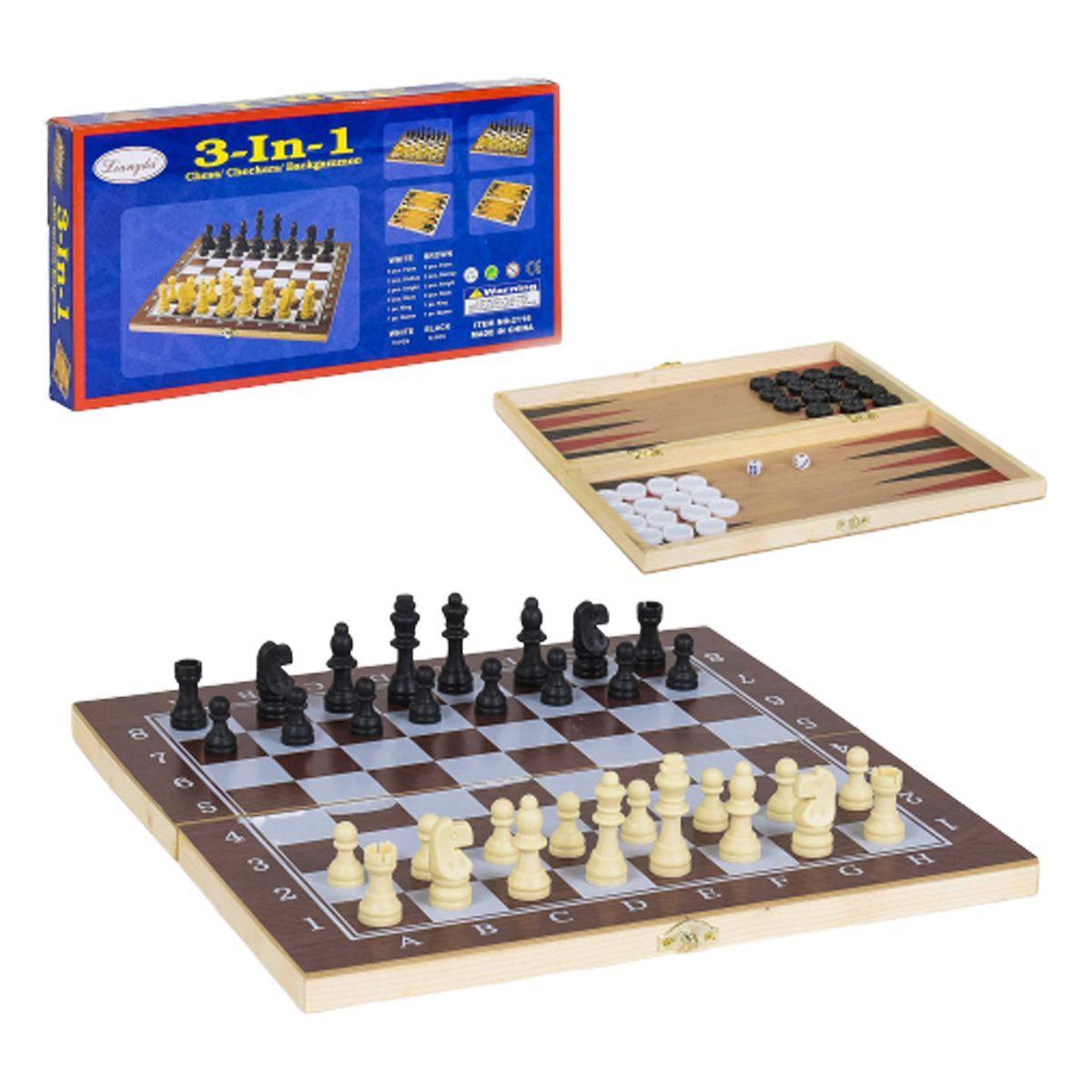 Шахматы, шашки, нарды 3в1С 36811