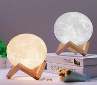 Ночник Настольный светильник Magic 3D Moon Light Большой