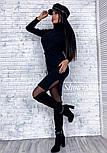 Женское платье из плотного машинного трикотажа с поясом и разрезами (в расцветках), фото 6