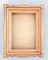 Киот фигурный из ольхи, со светлой тонировкой., фото 1