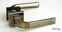 Дверные ручки на квадратной розетке BRILLANTI AL-077 AB (античная бронза)