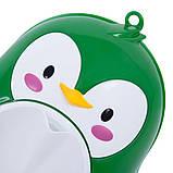 Дитячий тренувальний пісуар-горщик PottyFrog для хлопчиків у вигляді Пінгвіна зелений, фото 4