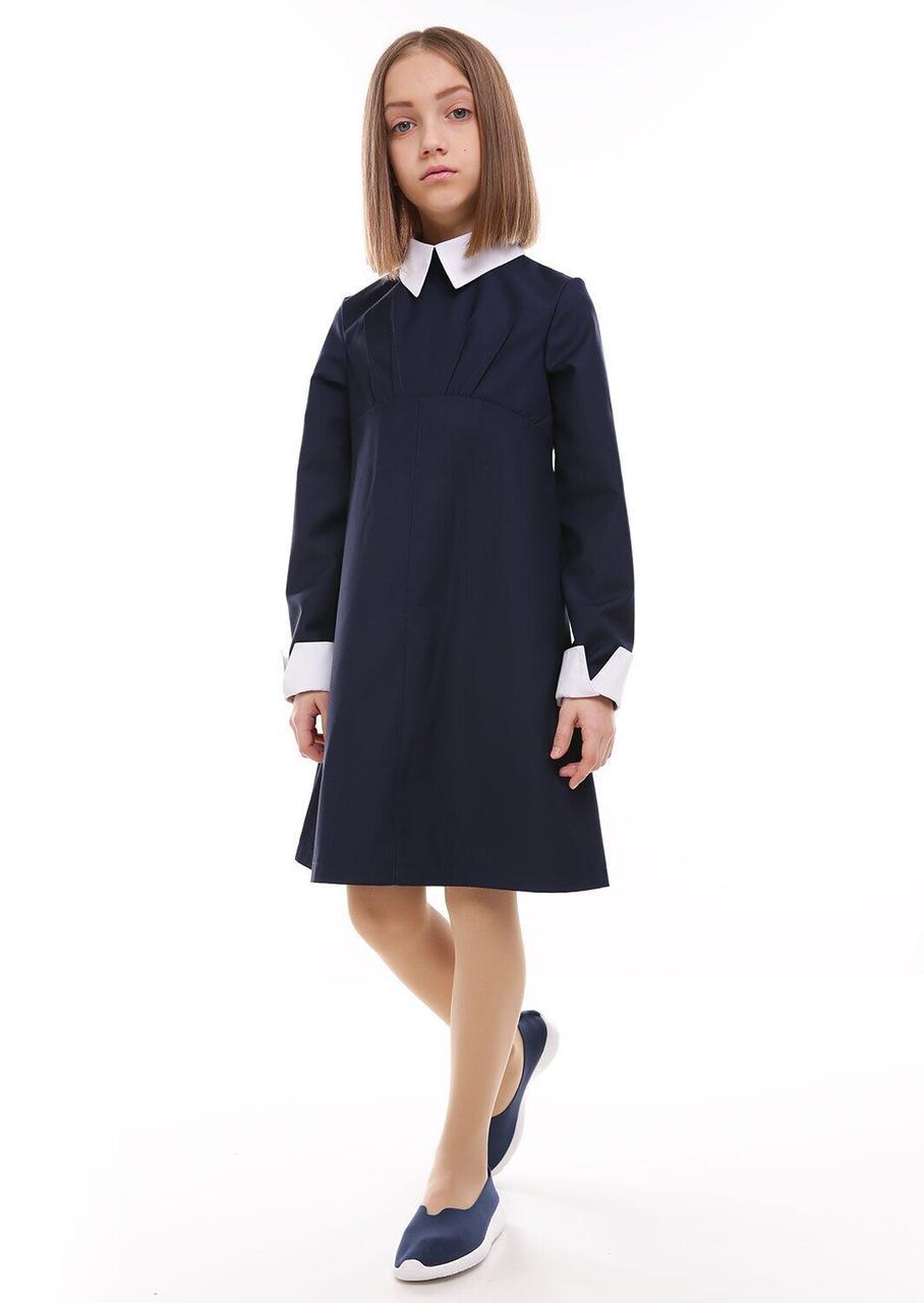 Платье Лидия синий, 140