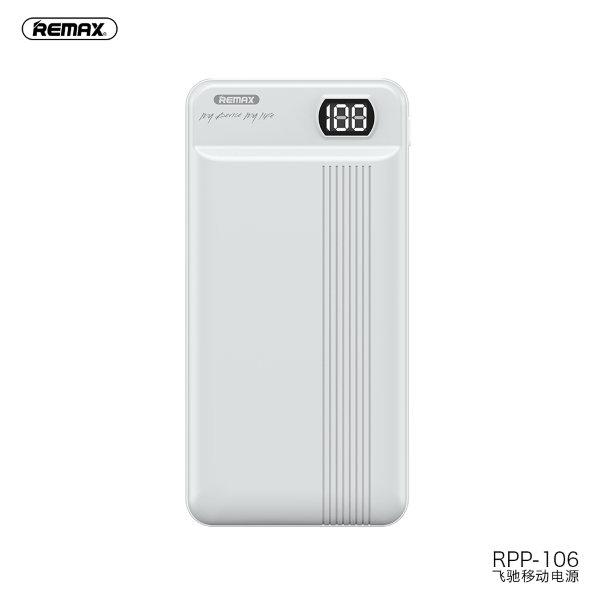 Power Bank Remax RPP-106 Fizi Series (20000mAh/2A/2USB) + TYPE C input White