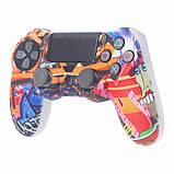 Захисний чохол на джойстик контролер DualShock для Sony PlayStation 4 PS4 PRO Slim (Графіті), фото 4