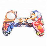 Захисний чохол на джойстик контролер DualShock для Sony PlayStation 4 PS4 PRO Slim (Графіті), фото 5