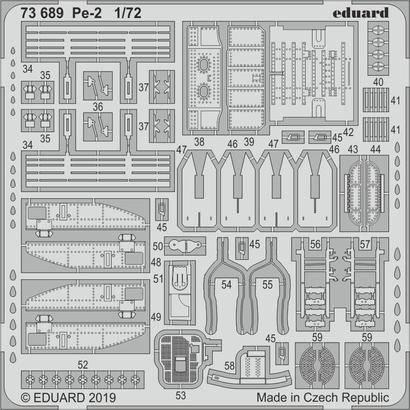 Набор деталировки для модели самолета Пе-2. 1/72 EDUARD 73689, фото 2