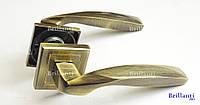 Дверные ручки на квадратной розетке BRILLANTI AL-159 AB (античная бронза)