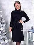 Женское платье трикотаж рубчик с юбкой-плиссе (в расцветках), фото 2