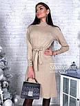 Женское платье трикотаж рубчик с юбкой-плиссе (в расцветках), фото 8