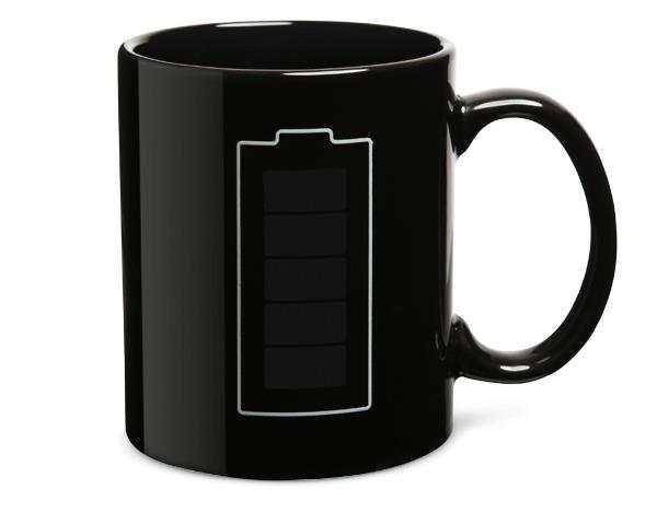 Чашка чёрная хамелеон батарейка 330 мл (без лака)