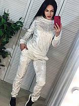 Стильный бархатный костюм,  размеры S M, фото 3