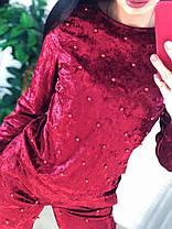 Стильный бархатный костюм,  размеры S M, фото 2
