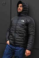 Куртка мужская зимняя теплая качественная черная The North Face
