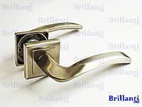 Дверные ручки на квадратной розетке BRILLANTI AL-608 SN (матовый никель)