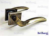 Дверные ручки на квадратной розетке BRILLANTI AL-608 AB (античная бронза)