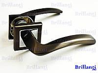 Дверные ручки на квадратной розетке BRILLANTI AL-608 MBN/CP(графит/хром)