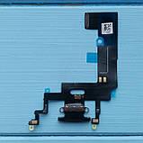 Шлейф Apple iPhone XR коннектора зарядки Black, фото 2