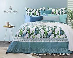 Ткань для постельного белья с кактусами, бязь белорусская Питикито