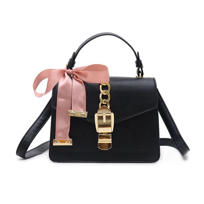 Женская стильная сумочка современного дизайна,  черная UA-2