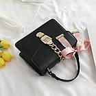 Женская стильная сумочка современного дизайна,  черная UA-2, фото 3