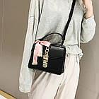 Женская стильная сумочка современного дизайна,  черная UA-2, фото 2