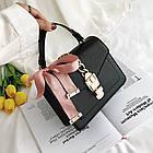 Женская стильная сумочка современного дизайна,  черная UA-2, фото 4