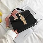 Женская стильная сумочка современного дизайна,  черная UA-2, фото 5