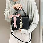 Женская стильная сумочка современного дизайна,  черная UA-2, фото 6