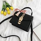 Женская стильная сумочка современного дизайна,  черная UA-2, фото 7