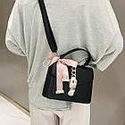 Женская стильная сумочка современного дизайна,  черная UA-2, фото 9