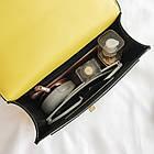 Женская стильная сумочка современного дизайна,  черная UA-2, фото 8
