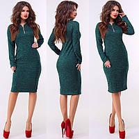 Женское платье приталенное Ангора софт Размер 42 44 46 48 Разные цвета, фото 1