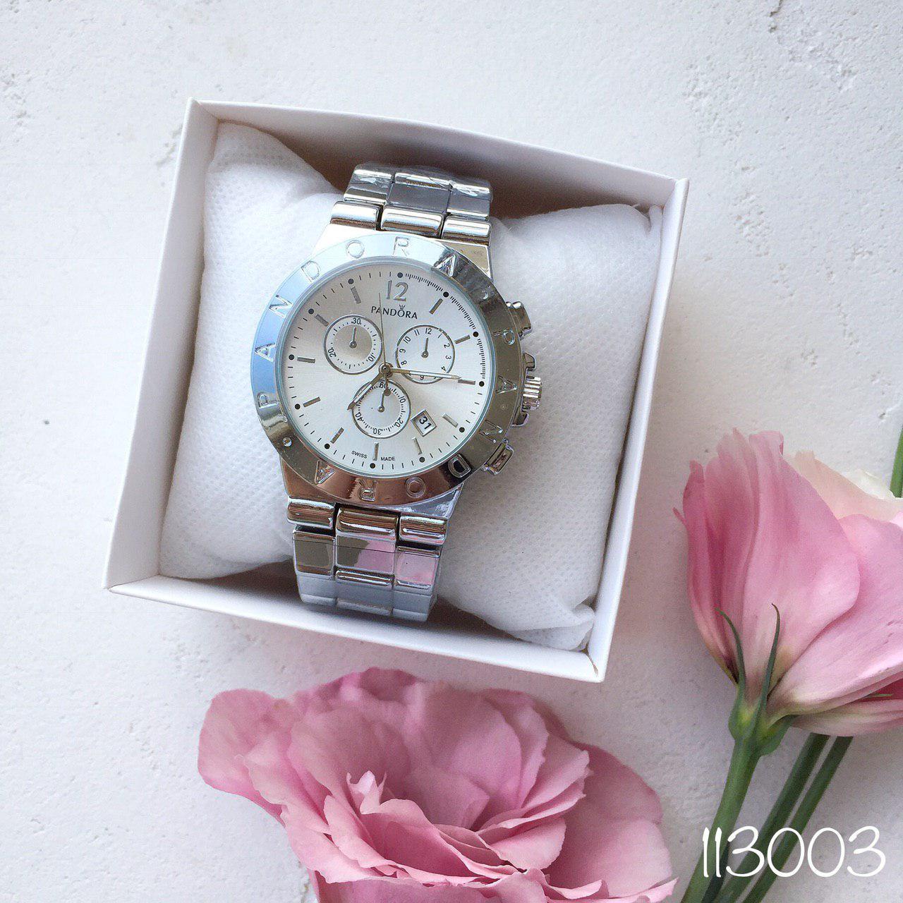 Женские наручные часы в стиле Pandora серебро. Наручные кварцевые часы из нержавеющей стали. Годинник жіночій