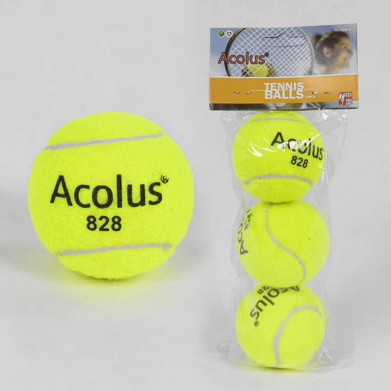 "Мяч для тенниса C 40193 (80) ""TK Sport"" 3шт в кульке, d=6см"