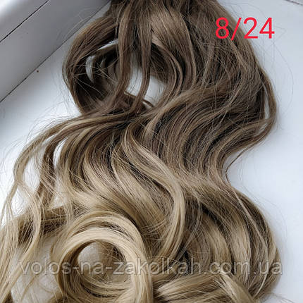 Волосы на заколках волнистые омбре, фото 2