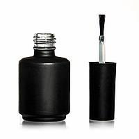 Бутылочка черная с кисточкой, стекло, 8 мл. (овал)