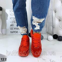 37,39,40 размер Женские красные кроссовки эко-замша+эко-лак