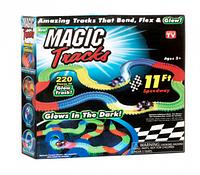 Гоночная трасса светящаяся в темноте Magic Tracks 220 деталей с LED подсветкой