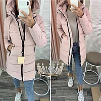 Куртка стильная женская зимняя удлиненная 42-56 в цветах