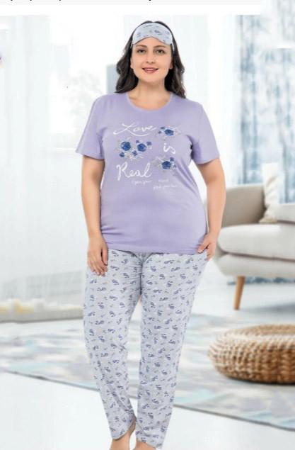 женские пижамы с брюками большой размер