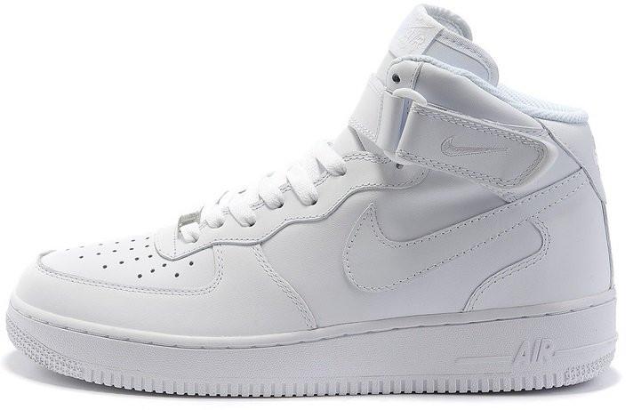 Мужские кроссовки Nike Air Force High All White , фото 1